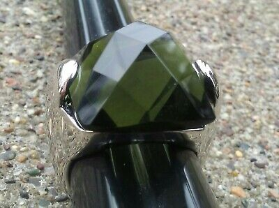 $ CDN13.08 • Buy Pre Owned Lia Sophia Faceted Glass Ring Size 9.5