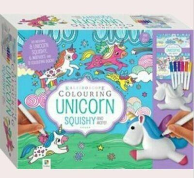 AU24 • Buy Kaleidoscope Colouring Unicorn Squishy- FREE POSTAGE