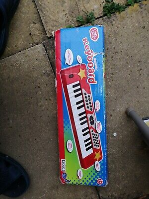 £8.99 • Buy Chad Valley Electronic Keyboard - Red Kids Play Musical Piano Toy Gift Set NEW