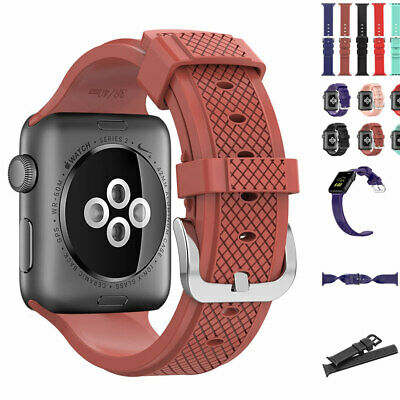 $ CDN22.61 • Buy Simple Soft Silicone Bracelet Band Strap For Apple Watch IWatch 38 40 42 & 44mm