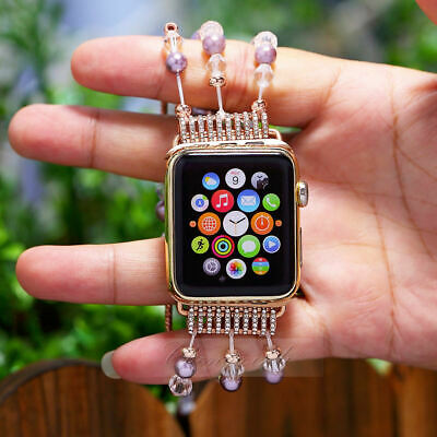 $ CDN27.56 • Buy Pearl Beads Bracelet Watch Band Strap For Apple Watch IWatch Series 38 /42 Mm