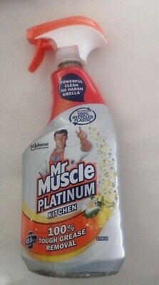 Mr Muscle Platinum Citrus Kitchen 100% Tough Grease Removal 750ml • 5.99£