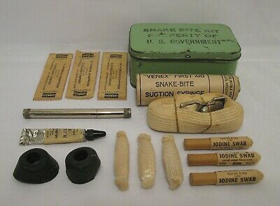 $49.95 • Buy WW2 WWII U.S. Army USMC USN Snake Bite Kit Complete And In Excellent Condition