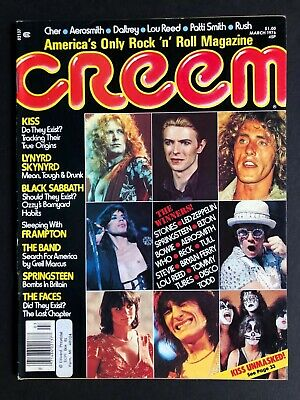 $29.99 • Buy Creem Magazine March 1976 KISS The Who Led Zeppelin Bowie Complete W/Supplement