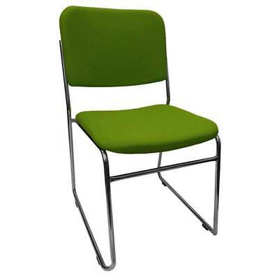 AU99 • Buy Visitor Sled Base Stackable Chair Boardroom Meeting Waiting Room Rod Fabric Grn