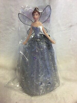 GISELA GRAHAM SILVER CHRISTMAS TREE TOPPER ANGEL FAIRY -  18cm - 601 • 10.99£