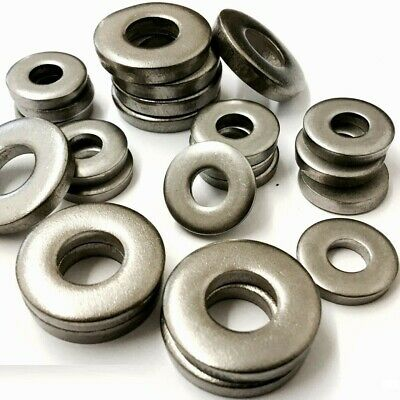 £5.95 • Buy A4 Stainless Steel Marine Grade Extra Thick Flat Spacer Washers Din 7349 Metric