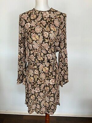 $170 • Buy Nwt Zimmermann Bowerbird Flared Dress In Black Paisley Size 0 $495