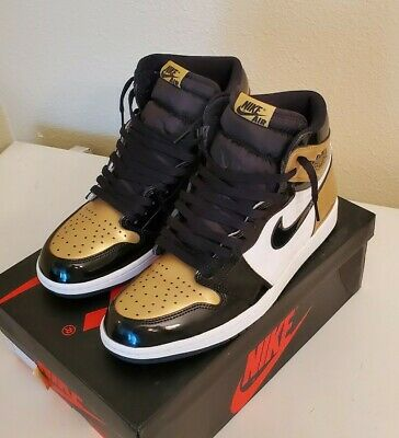 $180.50 • Buy Nike Air Jordan 1 Retro High OG NRG Gold Toe Patent Leather Size 10 861428-007