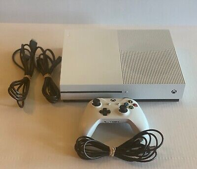 $205 • Buy Microsoft XBOX One S 1681 1TB Console Bundle - White W Controller, Cables