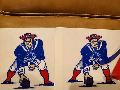 $22 • Buy New England Throwback Large Patriots Decals 1982 To 1992
