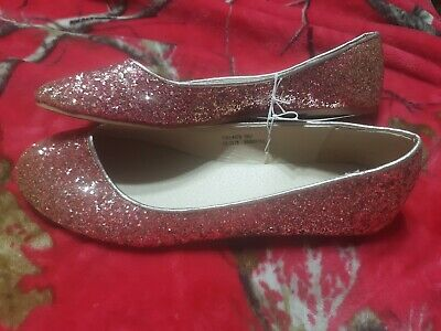 $10 • Buy CAPELLI Pink & Gold Shinny Sequin Slip On Flats Size 8 RN#86183 NWT