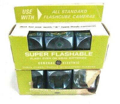 General Electric Camera Flash Cubes New Old Stock Super Cubes 6 Cubes Vintage • 8.04£