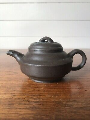 AU50 • Buy Vintage Authentic Chinese Small Yixing Clay Teapot Stamped To Base Applied Leaf
