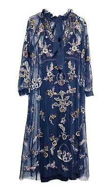 $49.99 • Buy NWT Zara Woman LIMITED EDITION Embroidered Dress Anthracite Grey Size XS - S