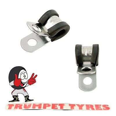 £8.18 • Buy Rubber Lined P Clips 10mm | 8.4mm Fixing Hole | 20mm Band Width | Handy | 30771