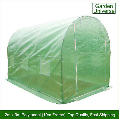 Polytunnel By Garden Universe 19mm Galvanised Frame Greenhouse Poly Tunnel • 64.99£