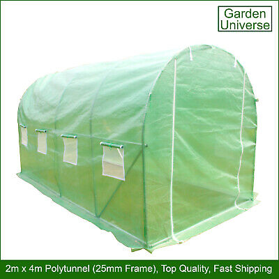 Polytunnel By Garden Universe 25mm Galvanised Frame Greenhouse Poly Tunnel  • 89.99£