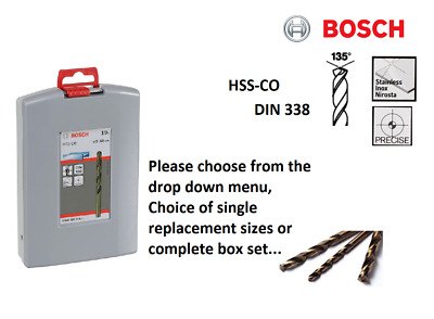 £3.55 • Buy Bosch Hss-co Cobalt Metal Drill Bits Or Set For Stainless Steel Drilling