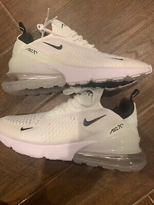 $78 • Buy Brand New Men's  Nike AIR MAX 270 Running Shoes White Size 10