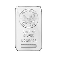$ CDN2090.12 • Buy Lot Of 10 X 5 Oz Sunshine Mint Silver Bar