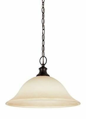 $ CDN34.64 • Buy Seagull 65496-710 Park West 1-Light Burnt Sienna Pendant W/ Cafe Tint Glass /221