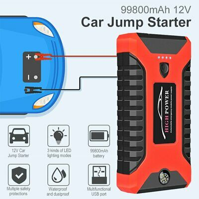AU81.99 • Buy 99800mAh Portable Car Jump Starter Pack Vehicle Charger Power Bank Battery Engin
