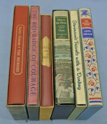 $37.97 • Buy BOOK LOT OF 6 COLLECTIBLE TITLES WITH CASES 1940s 1950s HERITAGE CLUB SANDGLASS