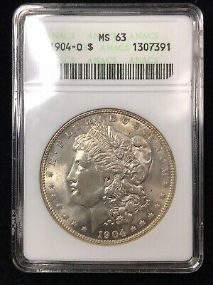 $43.99 • Buy 1904-O Morgan Dollar -  ANACS MS63 - Old White Holder