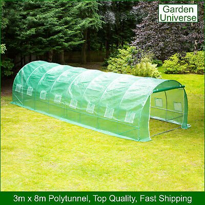 £1199.99 • Buy Polytunnel By Garden Universe 25mm Galvanised Frame Greenhouse Poly Tunnel 3 X 8