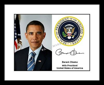 $8.99 • Buy Barack Obama Signed 8x10 Photo Print Presidential Seal Autographed US President