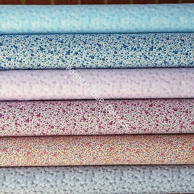 £7.50 • Buy Snow Ditsy Floral 100% Cotton Fabric   Quilting, Craft, Clothing Rose & Hubble