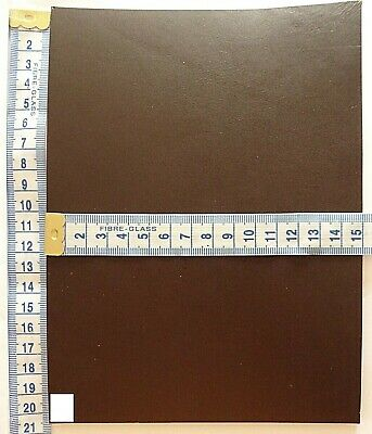 Brown Veg Tan Craft Leather 3.5mm Thick  Tooling Leather Hide Offcuts • 4.25£