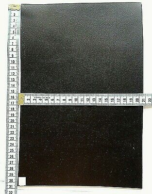 Black Veg Tan Craft Leather 3.5mm Thick  Tooling Leather Hide Offcuts • 4.95£