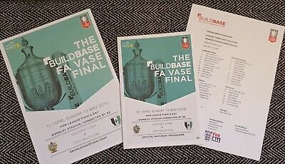 FA VASE Chertsey Town V Cray Valley (PM) FINAL Programme With Teamsheet 19/5/19! • 4.19£