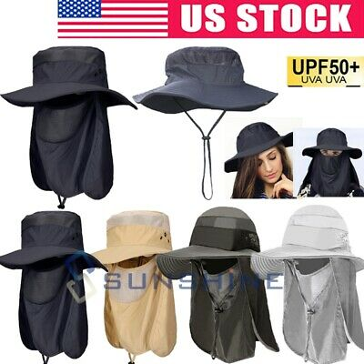 $16.85 • Buy 360° Ear Flap Neck Cover UV Protection Sun Hat Cap For Fishing Hunting Hiking