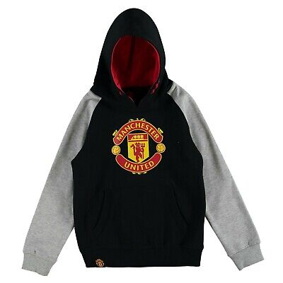 Manchester United Kids Core Pullover Hoodie - Black - New • 19.99£