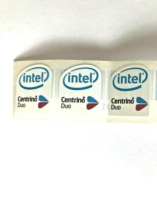 5 Intel Centrino Duo PC Laptop Case Badge Stickers • 2£