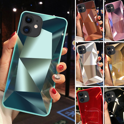 Diamond 3D Bling Mirror Case For IPhone 11 Pro Max X XR XS Phone Silicone Cover • 3.98£