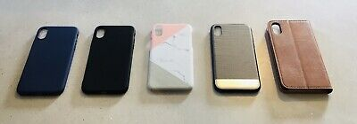 Iphone X Cases & Wallet/ Silicone/Hard/faux Leather/ 5 Pack! • 11£