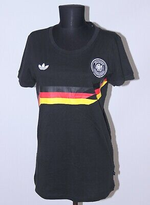 Retro Germany National Football Womens Team Cotton Shirt Adidas Size L • 11.99£