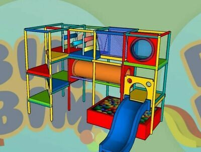 PLANS Indoor Playground Playland Commercial Kids Playset Soft Play DIY • 86.64£