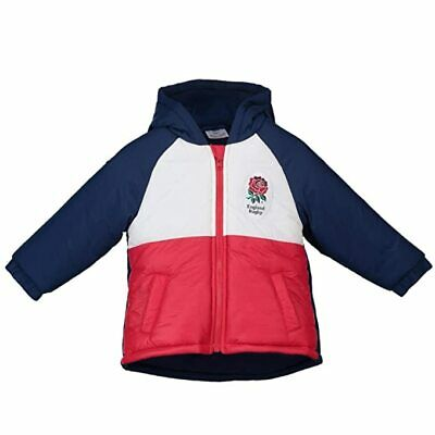 England Rugby Kid's Infant Hooded Jacket - White/Red - New • 19.99£