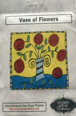 £3.99 • Buy Stamps Away Vase Of Flowers Clear Ink Stamp 80mm X 80mm Approx Brand New
