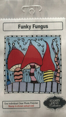 £3.99 • Buy Stamps Away Funky Fungus Clear Ink Stamp 90mm X 90mm Approx Brand New