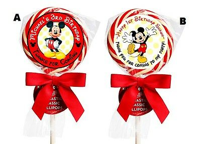 $5.31 • Buy Mickey Mouse Birthday Lollipop Round Party Stickers Favors 1.5 , 2 , 2.5