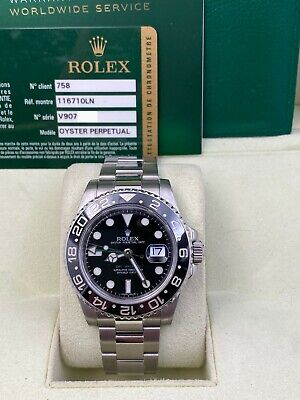 $ CDN13613.20 • Buy Rolex GMT Master II 116710LN Black Ceramic Stainless Steel Box Papers 2010