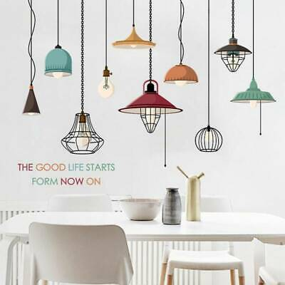 £4.27 • Buy Lamp Wall Sticker Chandelier Vinyl Transfer Graphic Decal Decor Graphic T