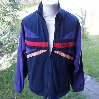 Adidas Vintage Trefoil Track Top Jacket Retro 80s W Germany Velvet Feel D7 L • 37.99£