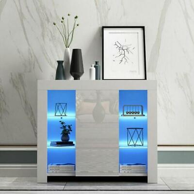 Modern TV Unit Cabinet Display High Gloss Sideboard Cupboard Led Light Furniture • 87.35£